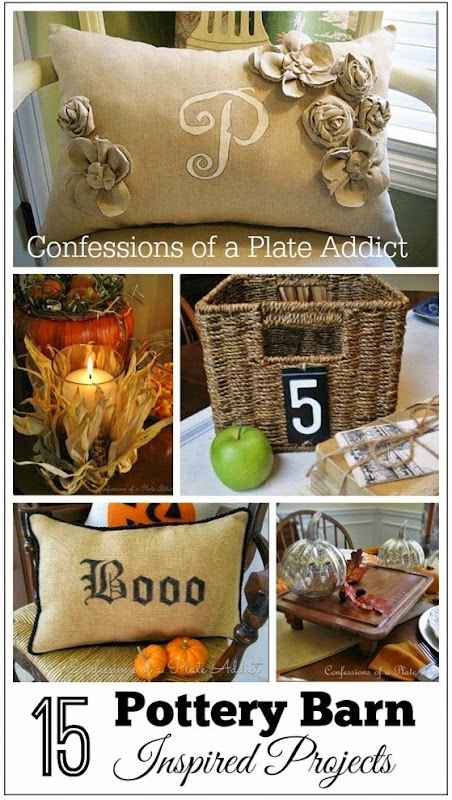CONFESSIONS OF A PLATE ADDICT 15 Pottery Barn Inspired Projects