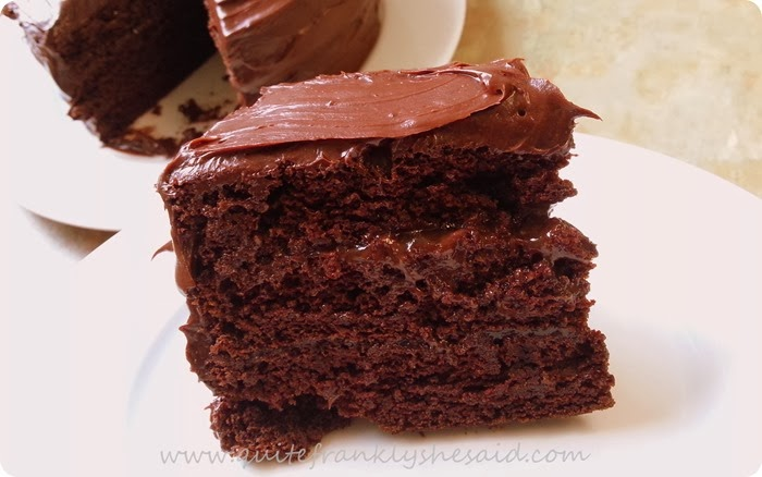 egg free chocolate fudge cake