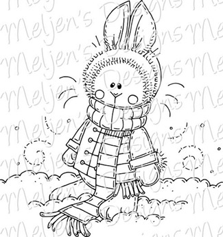 Meljens Designs Snow Bunny