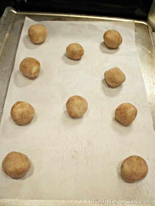 snickerdoodle cookie balls