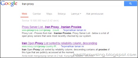 iran proxy search