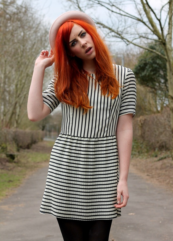 MINKPINK STRIPED DRESS CROPPED