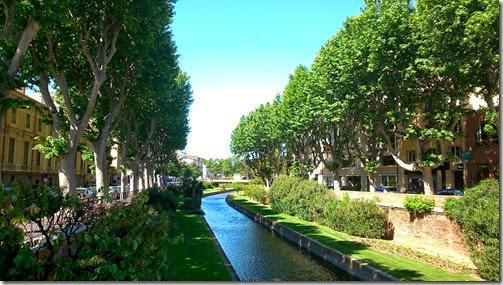 La Têt, la rivière qui traverse la ville de Perpignan