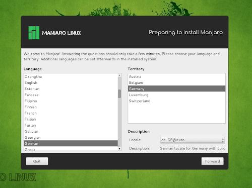 Manjaro Linux - nuovo installer