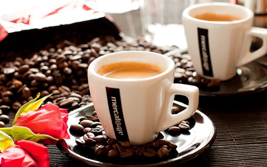 кофе, чашки, макро
