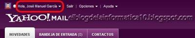 Yahoo actividad de inicio de sesión