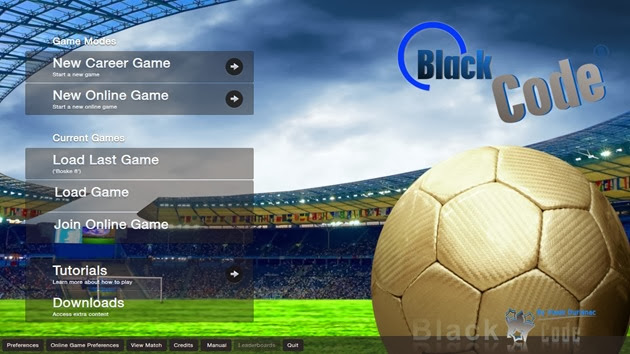 Black Code Skin Football Manager 2014