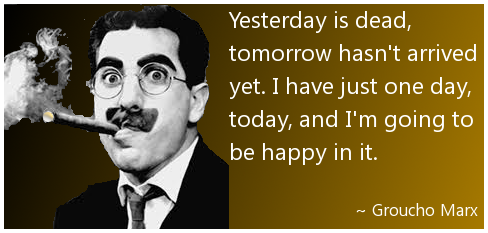 Groucho Marx on happiness