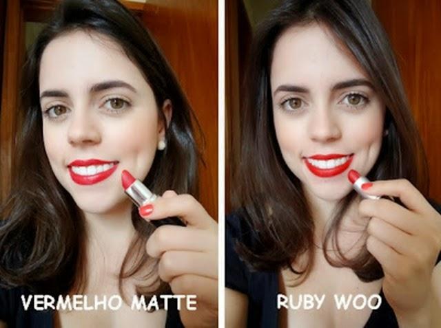 Vermelho matte versus ruby woo