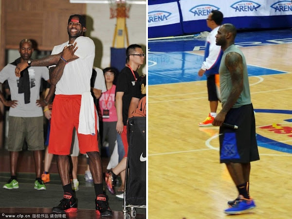King James Shows Off His Signature Shoes in China