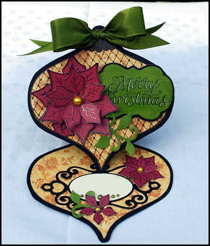 Ornament easel card