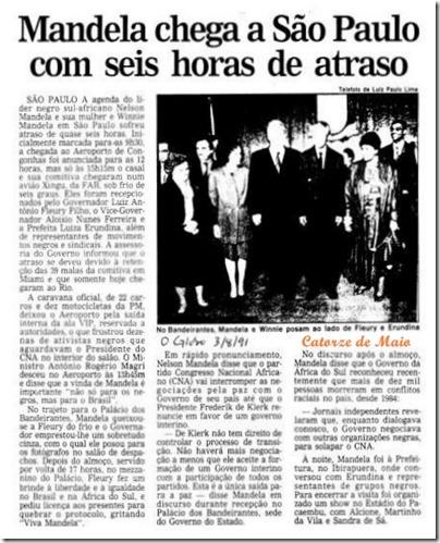 Jornal Mandela em São Paulo