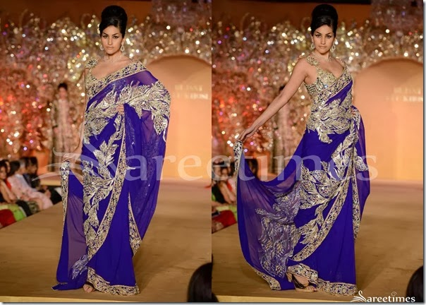 Abu_Jane_Sandeep_Blue_Saree