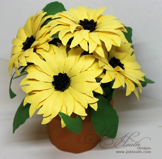 Sunflower pot2