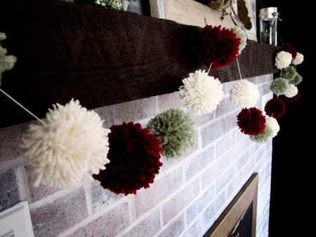 pom pom garland tutorial