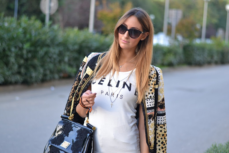 Rinascimento, Cline t-shirt, Cline tee, Cline, Miss Sicily Bag, Miss Sicily, Valentino Sunglasses, Studded Sneakers, C&amp;A Studded Sneakers, H&amp;M, H&amp;M trousers, Cruciani, Cruciani Bracelets, Braccialetti Cruciani, Braccialetti Cruciani di Halloween, fashion blogger, italian fashion bloggers, fashion blog
