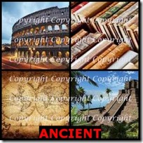 ANCIENT- 4 Pics 1 Word Answers 3 Letters