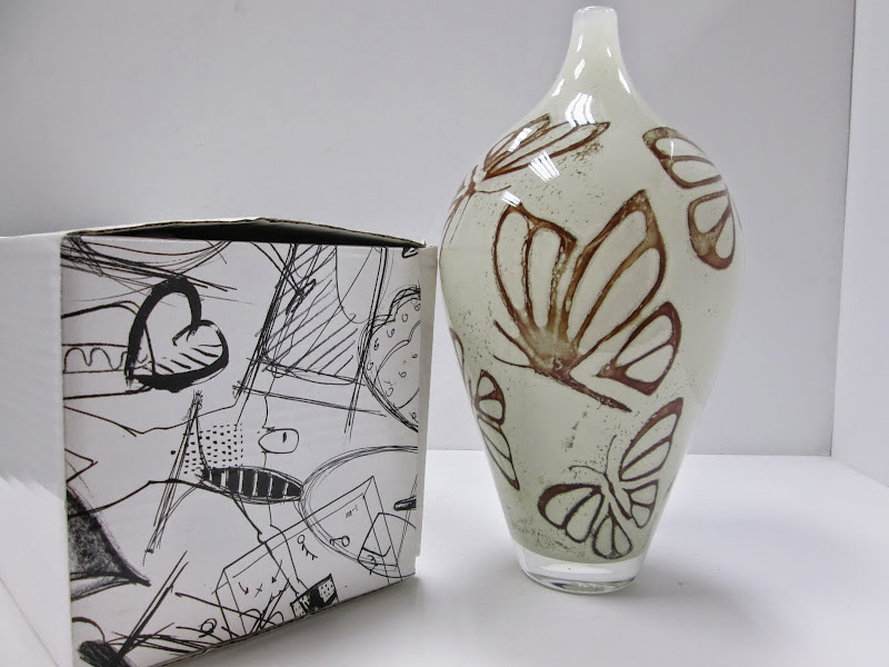Kosta Boda vase with butterflies