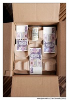 David Rath má v krabici místo vína peníze
