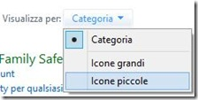 Windows 8 Pannello di controllo visualizzare icone piccole