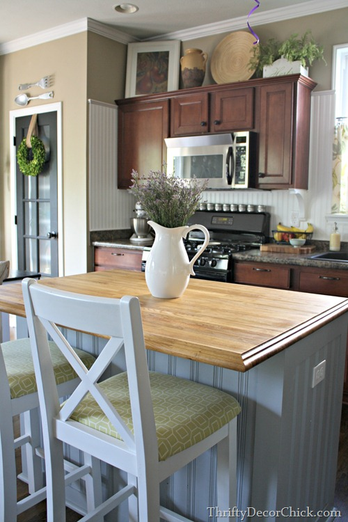 Final Kitchen Island Plans From Thrifty Decor Chick - How to decorate a kitchen island