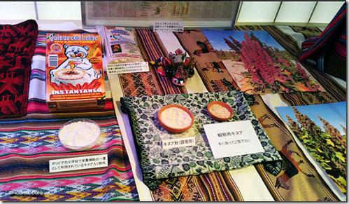 Semillas, harina y hermosas fotografías de quinua sobre textiles andinos-Noriko.Obata