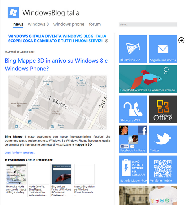 WindowsBlogItalia - Windows 8, Windows Phone 7, Office