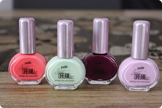 p2 just dream like nagellacke basislacke peach delight mint flavour cassis passion lilac joy