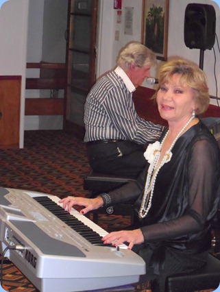 Ian Jackson swapping his drum sticks for the Clavinova to join Carole Littlejohn (on the Korg Pa1X) doing a great duet.