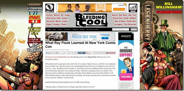 What Ray Flook Learned At New York Comic Con   Bleeding Cool Comic Book  Movies and TV News and Rumors