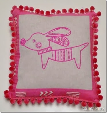 Pink Pipsqueak cushion