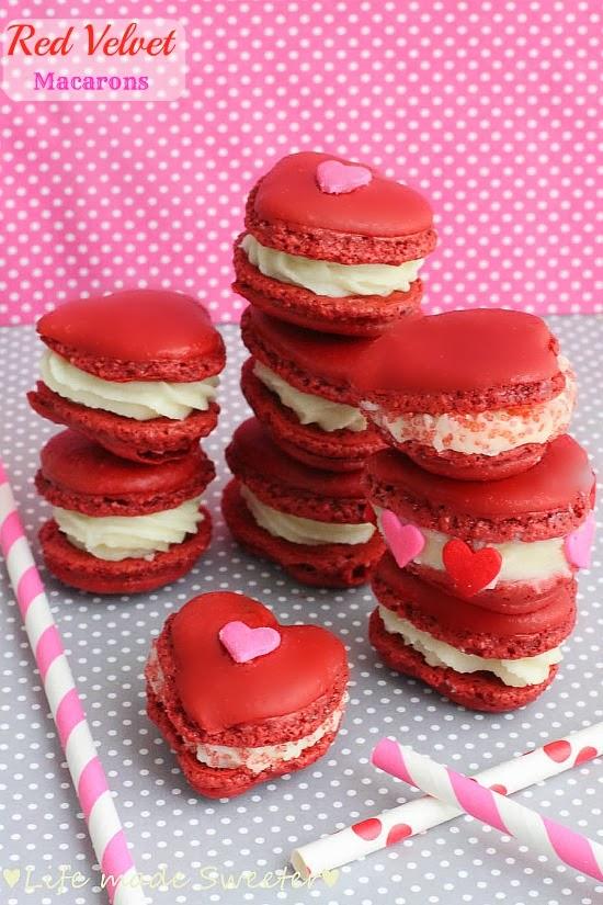 Red Macaron Recipe Red Velvet Valentine Macarons