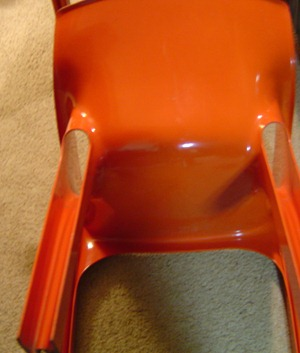 Vico Magistretti Gaudi armchair, orange