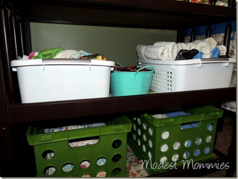 Cloth Diapering - Changing Table Setup