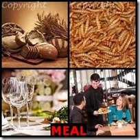 MEAL- 4 Pics 1 Word Answers 3 Letters