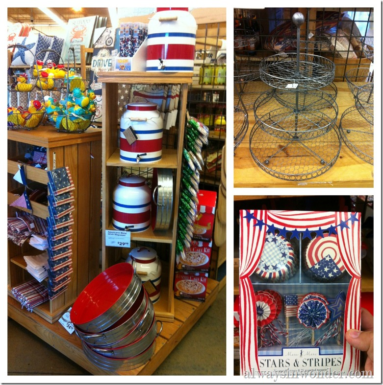 world market Americana decor
