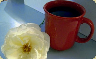 coffee and a flower