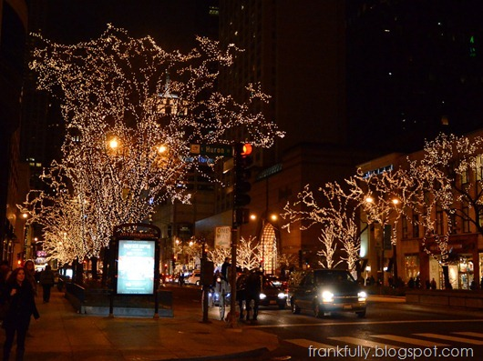 lights on Michigan Avenue