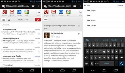 Nueva versión móvil de Gmail