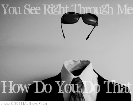 'Right Through The Invisible Man' photo (c) 2011, Matthew - license: http://creativecommons.org/licenses/by/2.0/