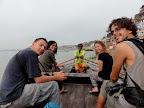 6h du matin, balade en barque le long du Gange