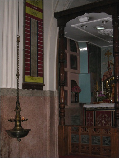 Lamp next to Saint's Tomb