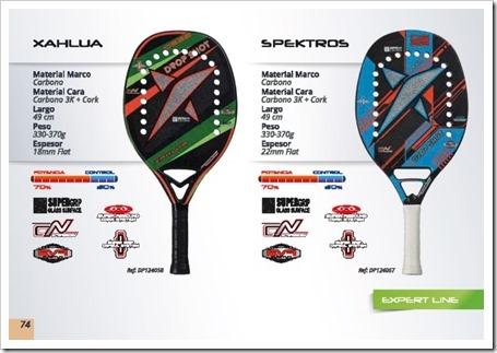 DS Beach Tennis / Tenis Playa 2015 / modelos xahlua y spektros