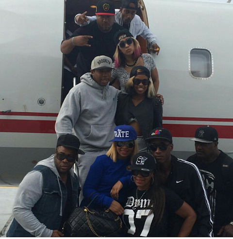 US Rapper Jarule and  Ashanti arrive Nigeria .