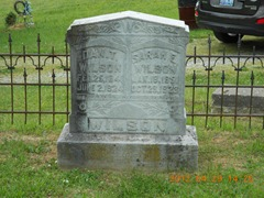 Wilson, Dan T and Sarah E - Grave Marker