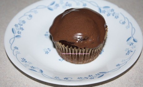 Carob Cupcakes - frosted while warm B