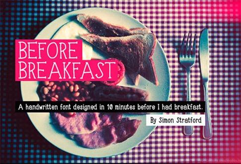 08. Antes del desayuno