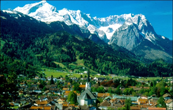 قمة mountain zugspitze