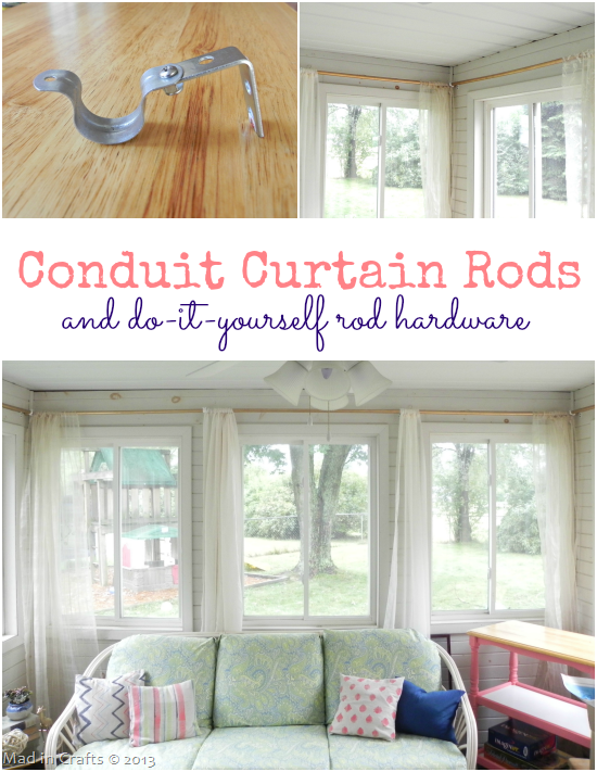 PVC Pipe Curtain Rods and DIY Rod Hardware