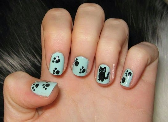 cat nails, cat nail art